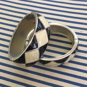 Macy's Jewelry - Black White Enamel bangle braclets